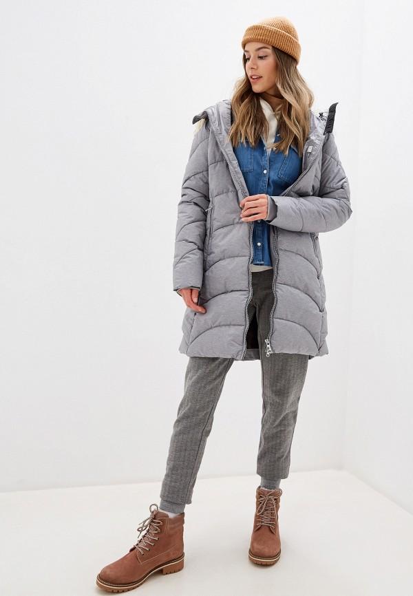 Luhta | серый Женская зимняя серая утепленная куртка Luhta | Clouty