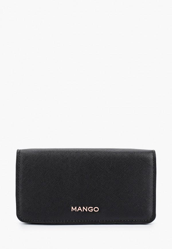 MANGO   Женский черный кошелек MANGO   Clouty