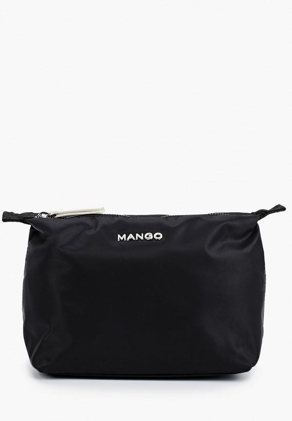 MANGO   черный Черная косметичка MANGO   Clouty