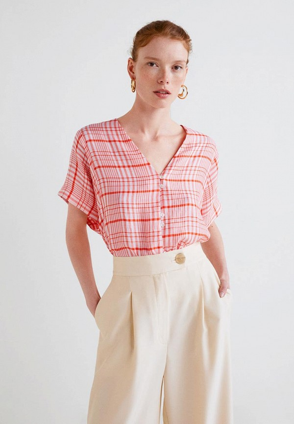 MANGO | розовый Блуза | Clouty