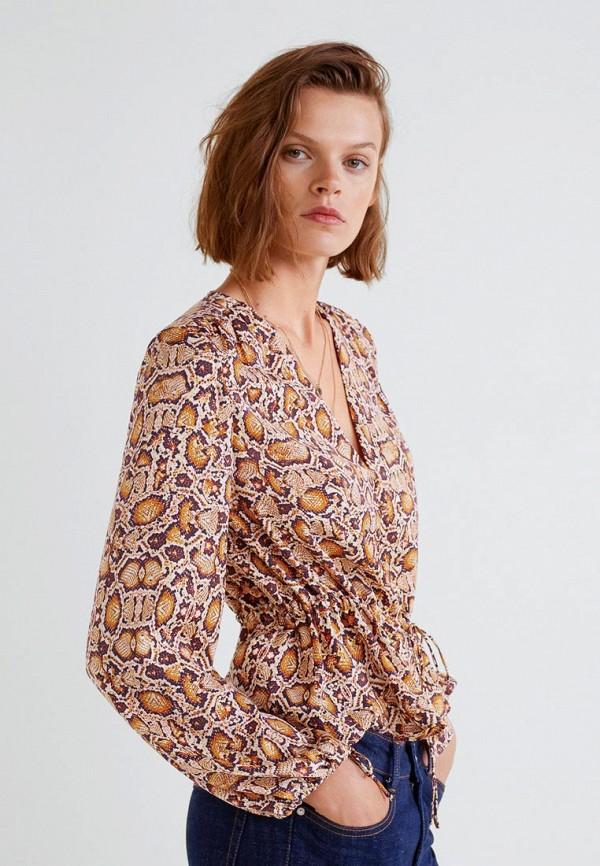 MANGO | коричневый Блуза | Clouty