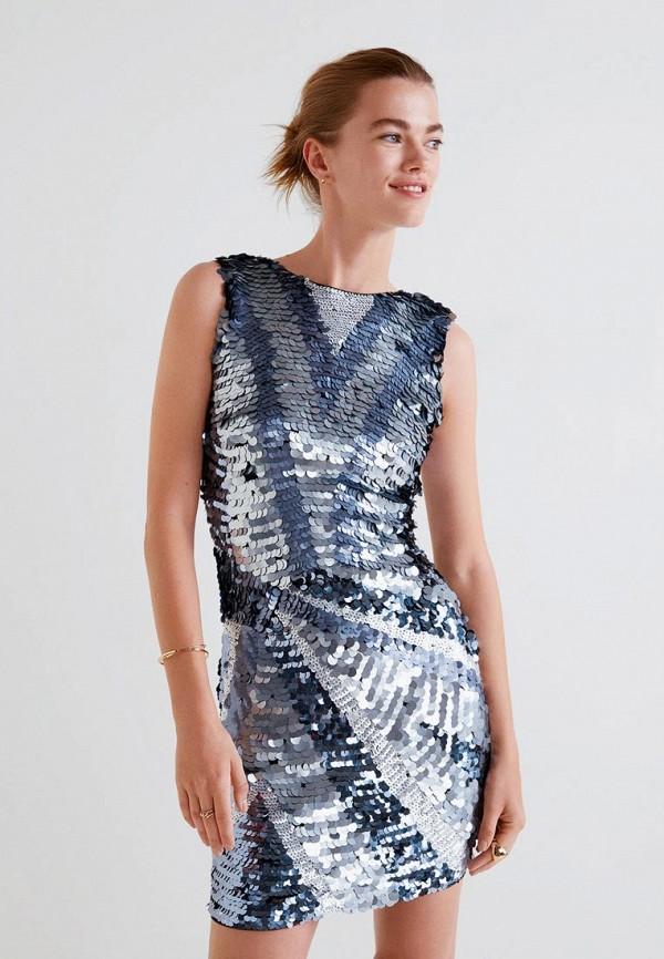 MANGO   синий Платье   Clouty