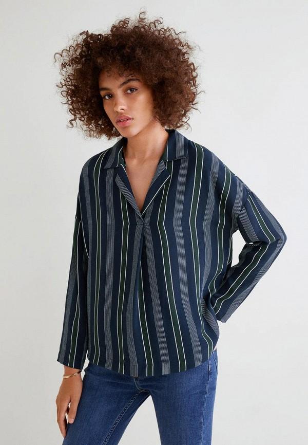 MANGO | синий Блуза | Clouty