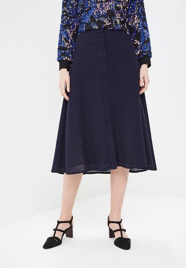 MANGO | синий Женская синяя юбка MANGO | Clouty