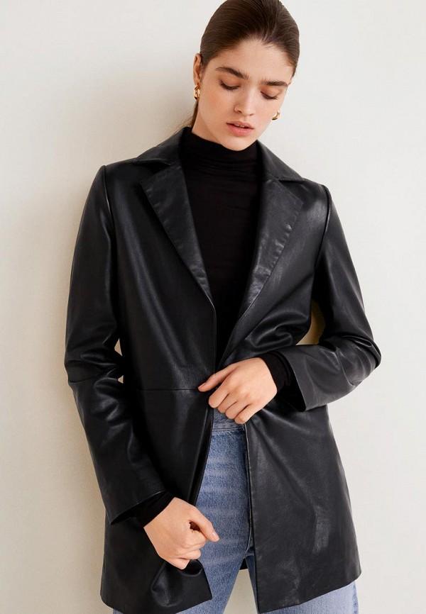 MANGO | черный Куртка кожаная | Clouty