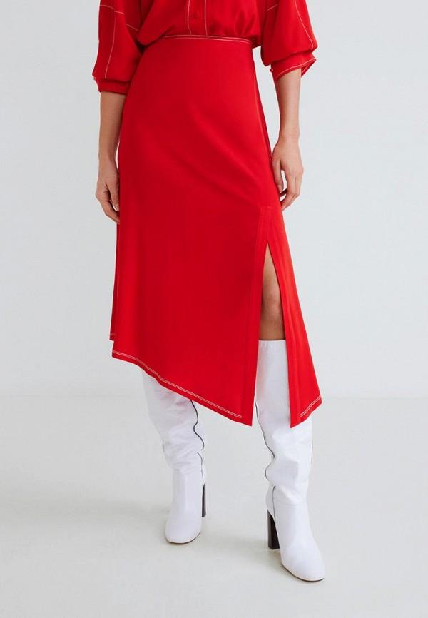MANGO | красный Женская красная юбка MANGO | Clouty