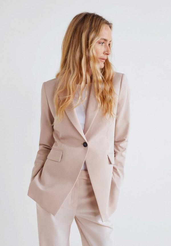 MANGO | Женский бежевый пиджак MANGO | Clouty