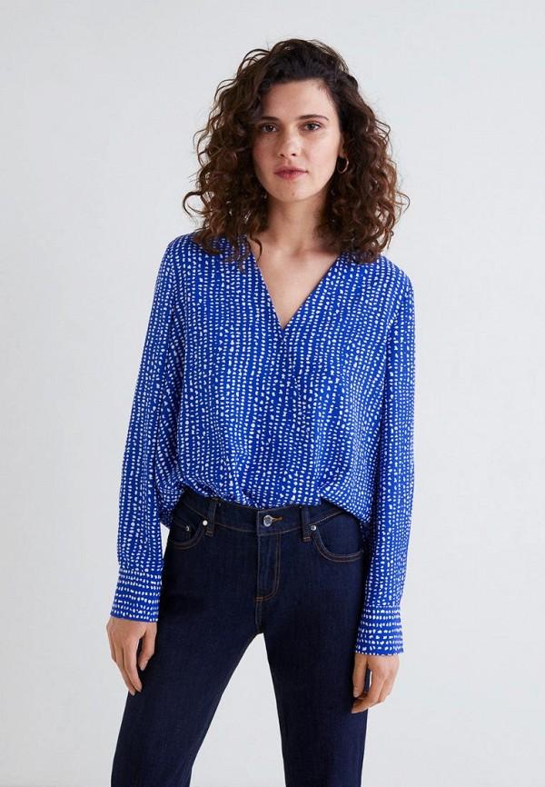 MANGO | синий Женская синяя блуза MANGO | Clouty