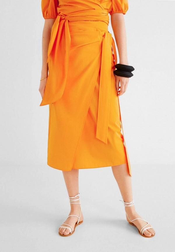 MANGO | оранжевый Юбка | Clouty