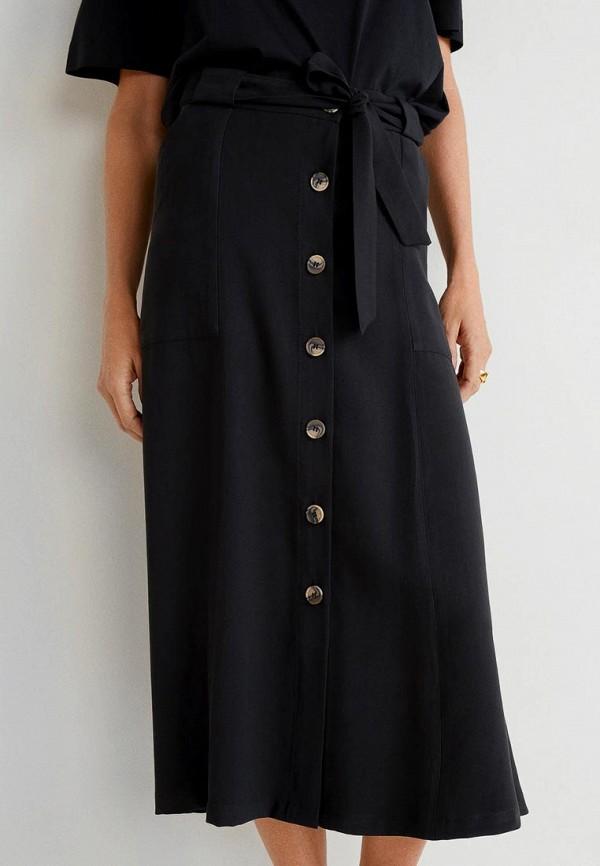 MANGO | черный Женская черная юбка MANGO | Clouty