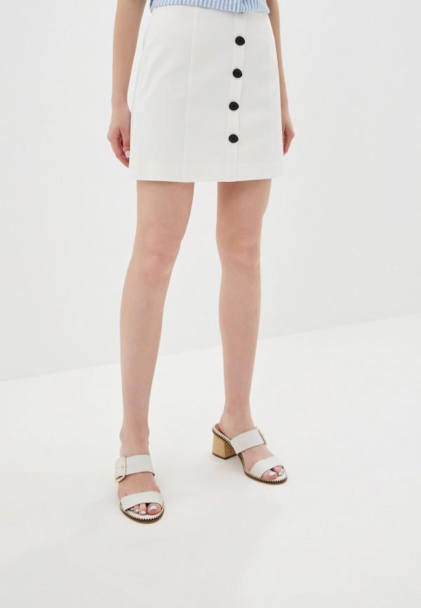 MANGO | белый Летняя белая юбка MANGO | Clouty