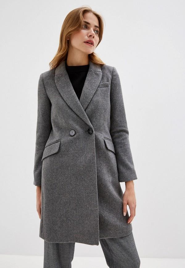 MANGO | серый Женское серое пальто MANGO | Clouty