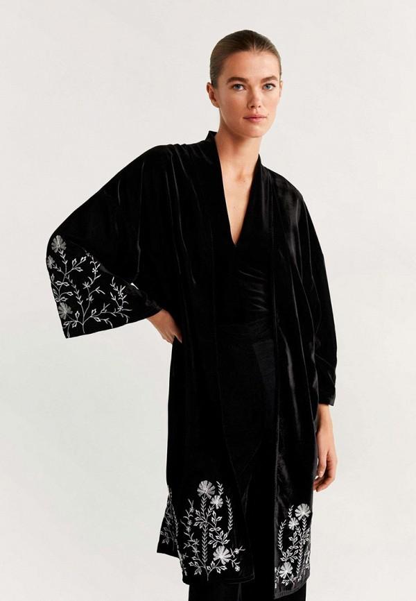 MANGO | черный Женское черное кимоно MANGO | Clouty