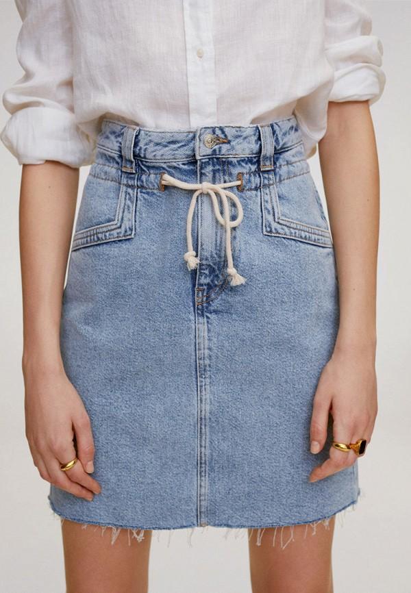 MANGO | голубой Юбка джинсовая Mango | Clouty
