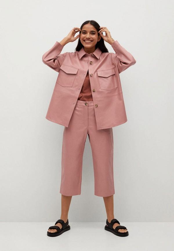 MANGO | розовый Рубашка Mango | Clouty