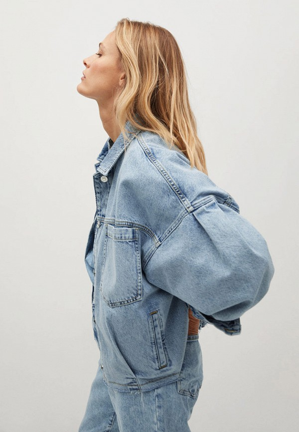 MANGO | голубой Куртка джинсовая Mango | Clouty