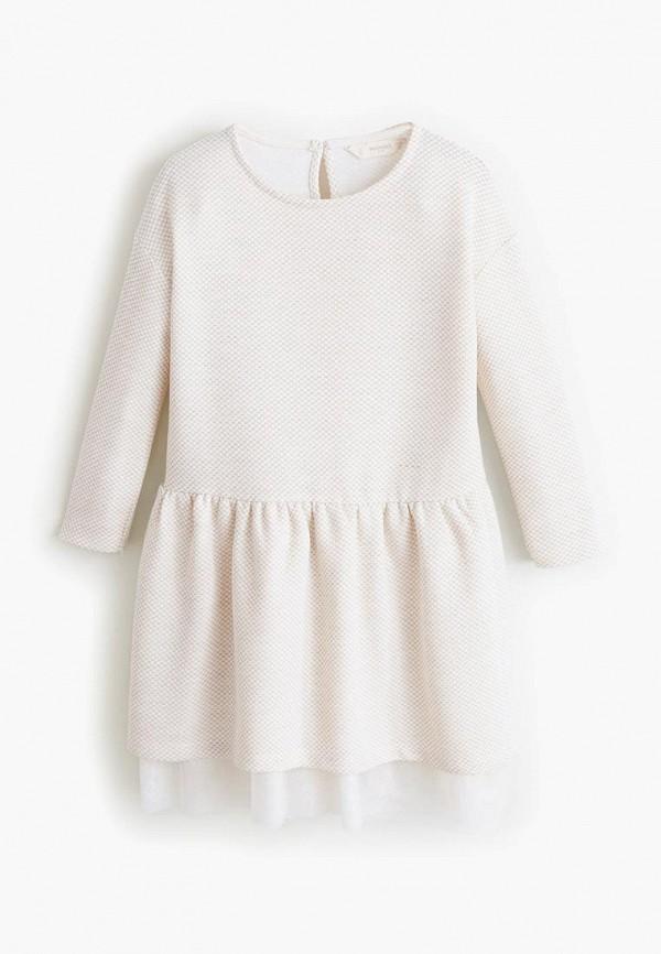 Mango Kids | бежевый Платье | Clouty
