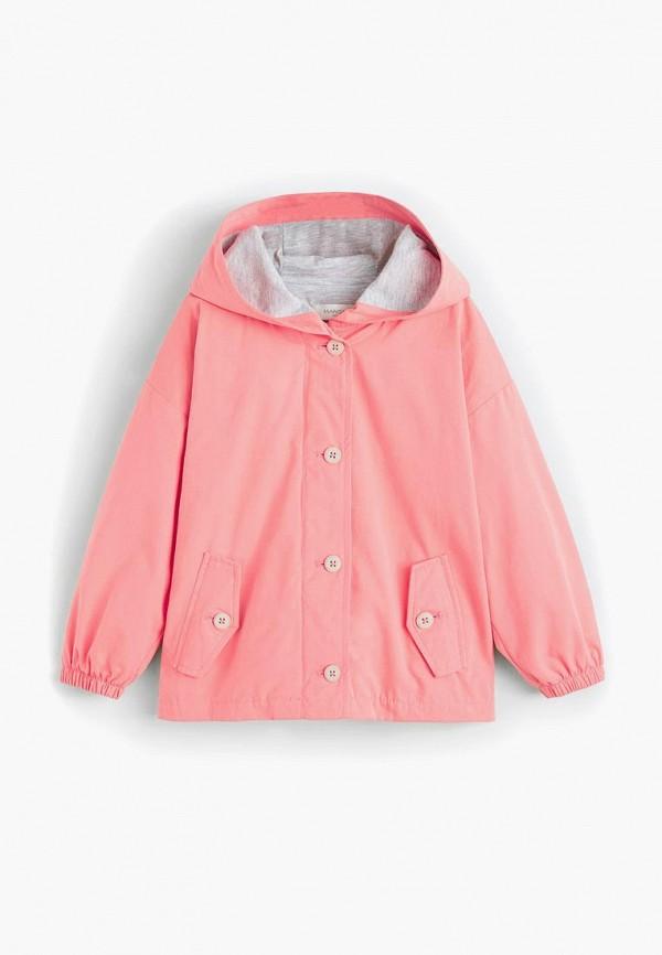 Mango Kids | розовый Розовая куртка Mango Kids для девочек | Clouty