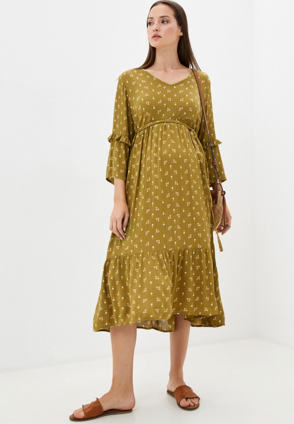 Mama Licious   хаки Платье Mamalicious   Clouty