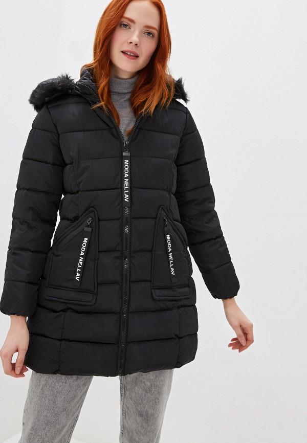 Marcella | черный Женская зимняя черная утепленная куртка Marcella | Clouty