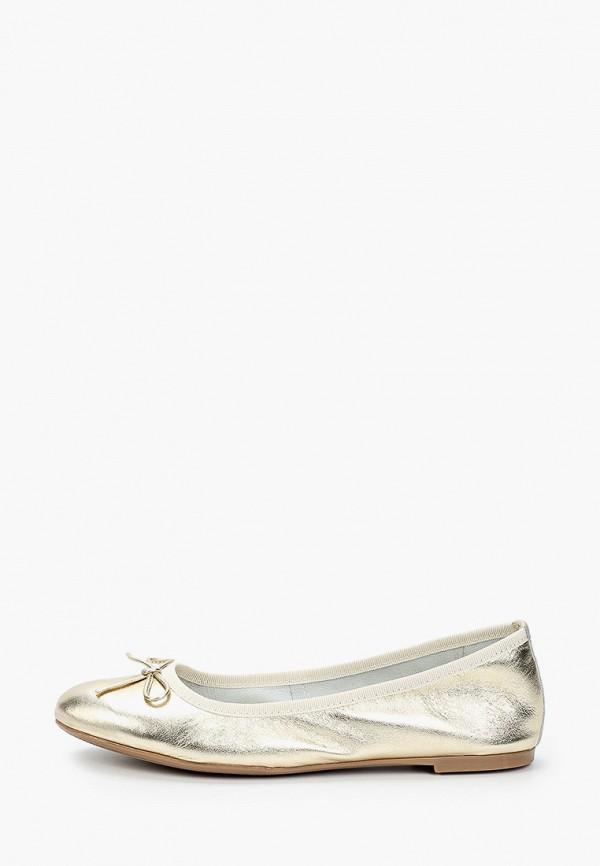 Marco Tozzi | золотой Женские золотые балетки Marco Tozzi искусственный материал | Clouty