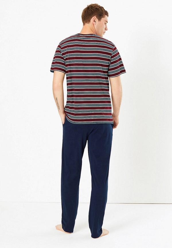 Marks & Spencer | синий Мужские синие домашние брюки Marks & Spencer | Clouty