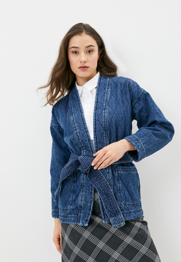 Marks & Spencer | синий Женская синяя джинсовая куртка Marks & Spencer | Clouty