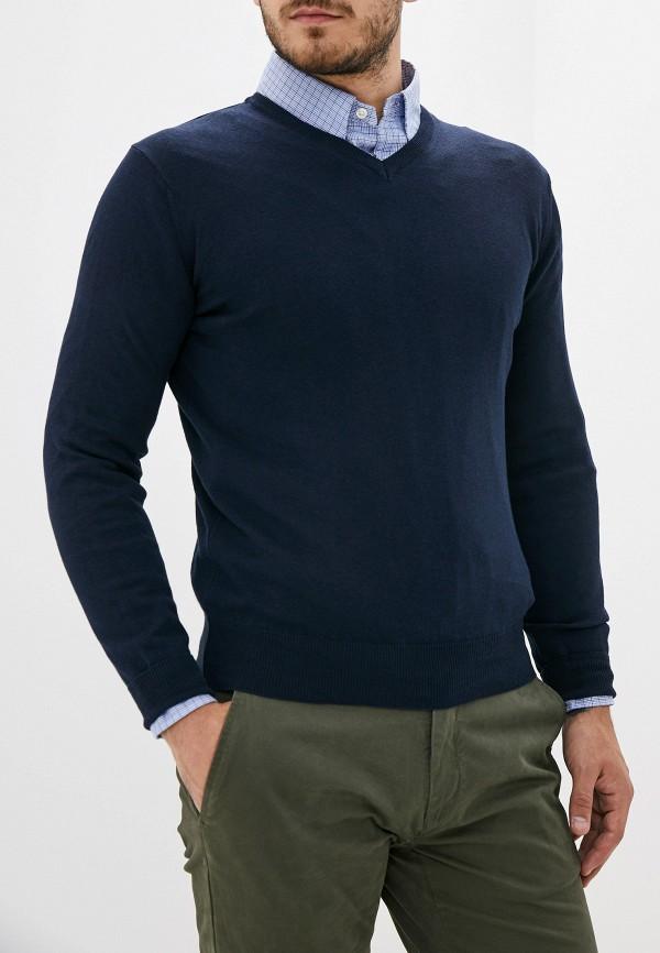 Malagrida   Мужской синий пуловер Malagrida   Clouty