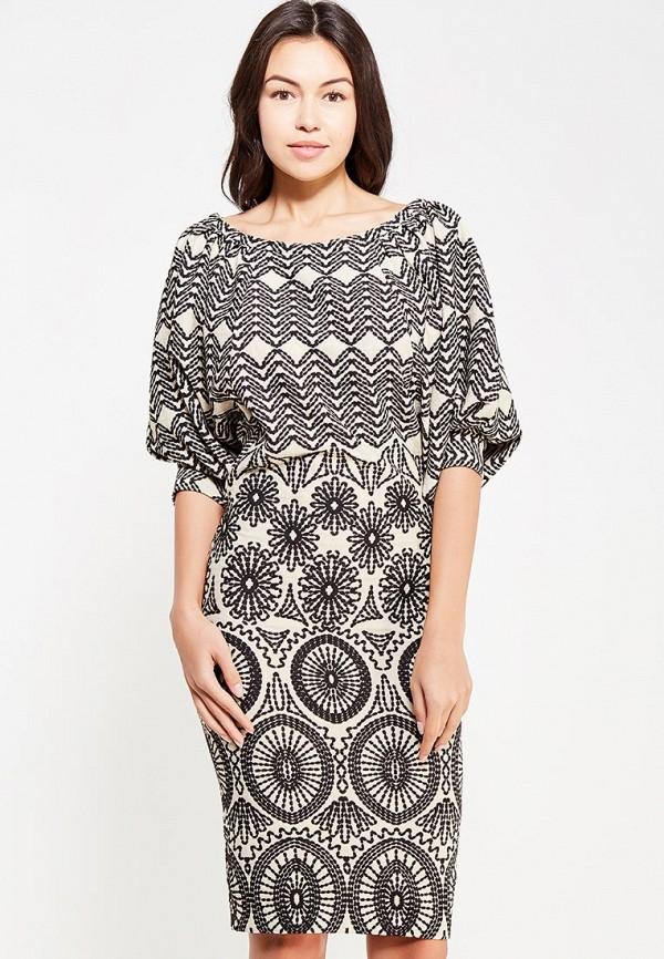 Мадам Т | бежевый Женское бежевое платье Мадам Т | Clouty