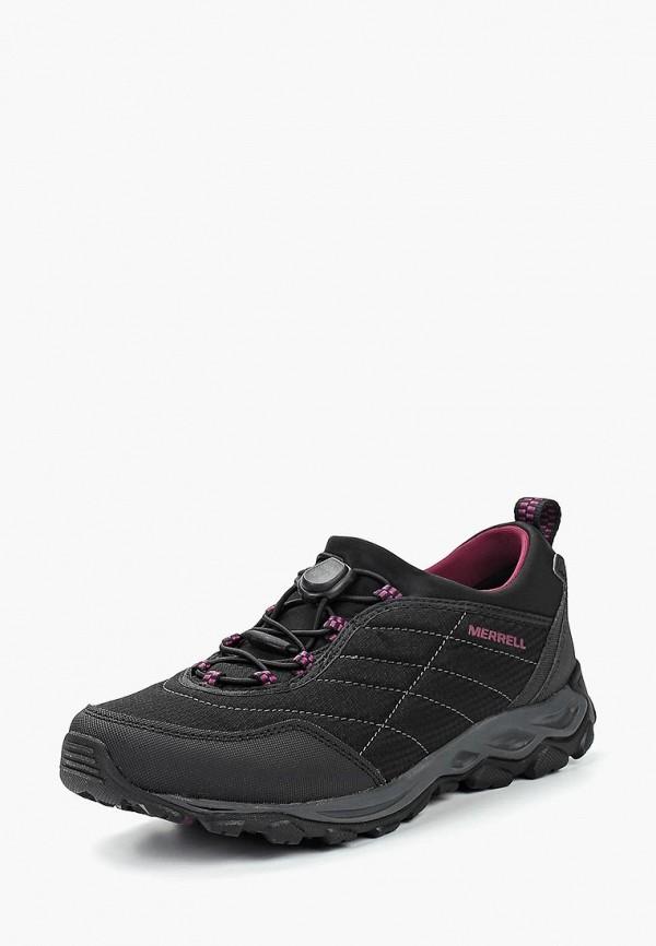 Merrell | черный Женские черные кроссовки Merrell резина | Clouty