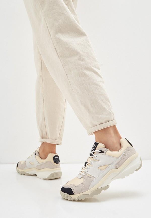Merrell | бежевый Женские бежевые кроссовки Merrell искусственный материал | Clouty