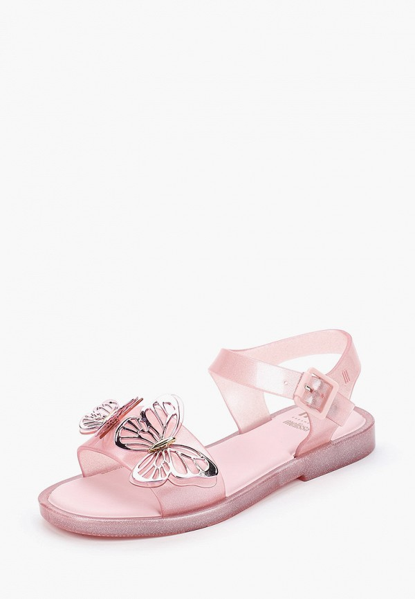 Melissa | розовый Летние розовые сандалии Melissa ПВХ для девочек | Clouty