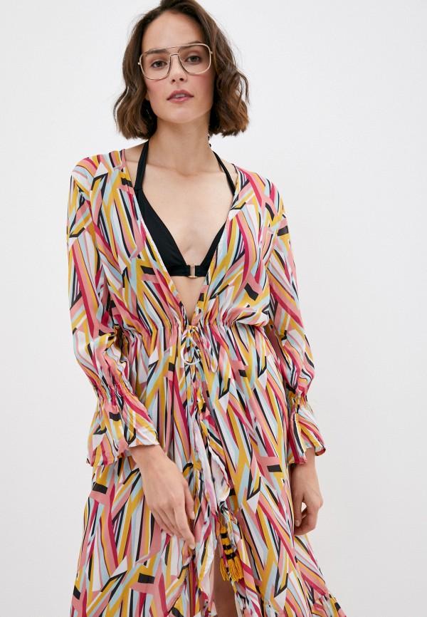 Milonga | мультиколор Летнее пляжное платье Milonga | Clouty