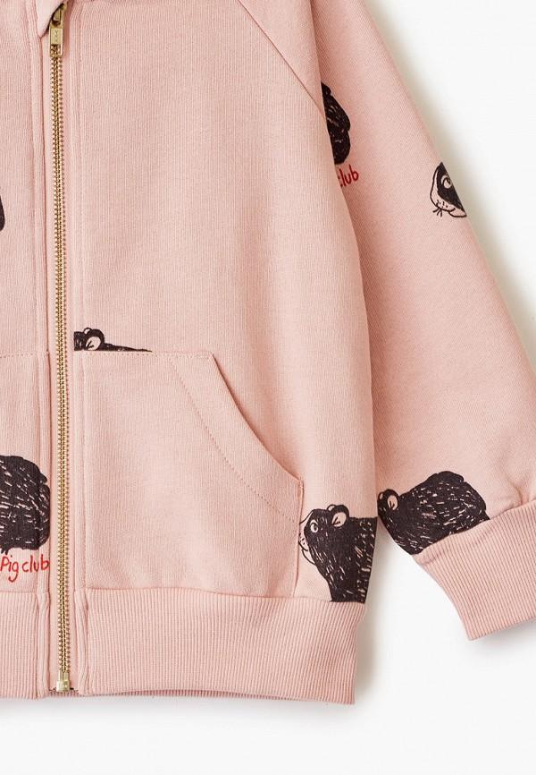 Mini Rodini   розовый Розовая толстовка Mini Rodini для девочек   Clouty