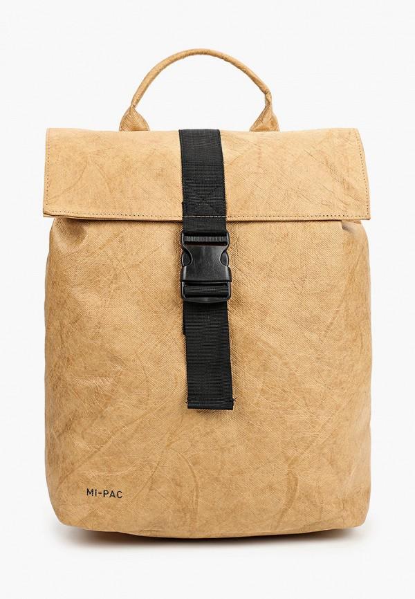 Mi Pac   Бежевый рюкзак Mi Pac   Clouty