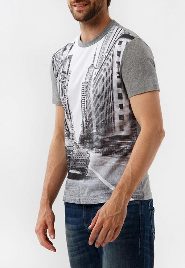 Finn Flare   серый Мужская серая футболка Finn Flare   Clouty