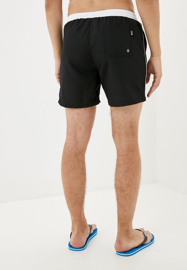 BOSS | черный Мужские черные шорты для плавания BOSS | Clouty