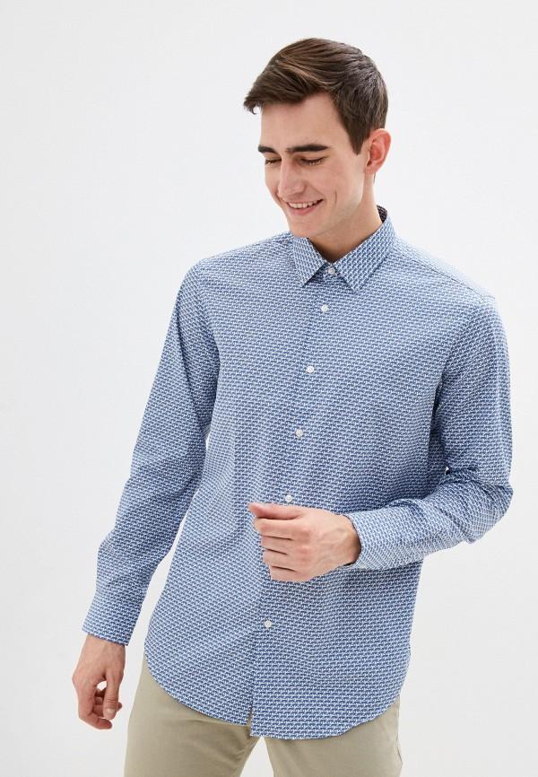 BOSS   синий Мужская синяя рубашка BOSS   Clouty