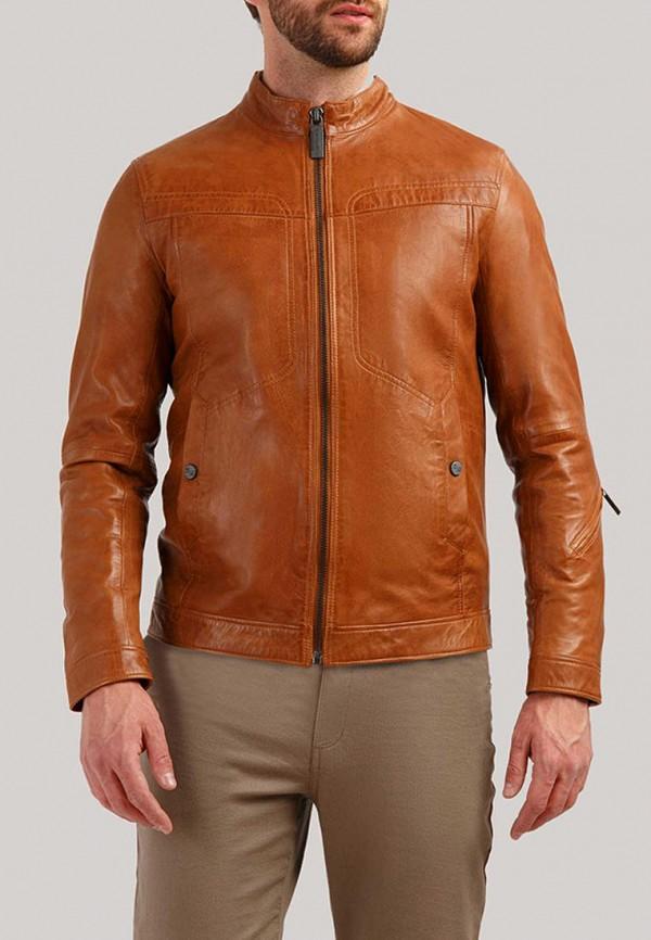 Finn Flare | коричневый Мужская коричневая кожаная куртка Finn Flare | Clouty