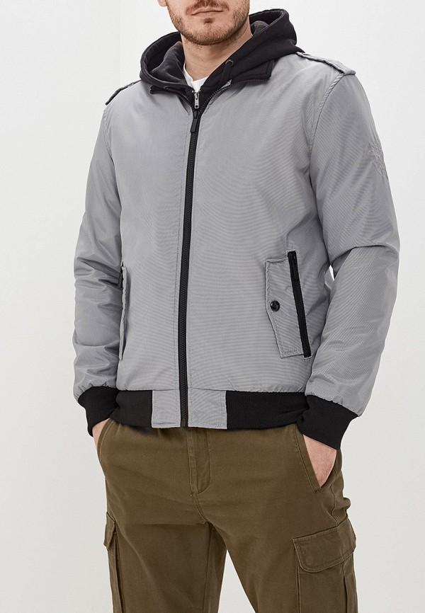 Moon River | серый Мужская серая утепленная куртка Moon River | Clouty