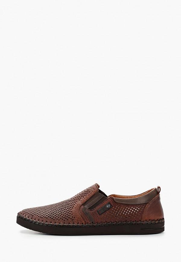 Nine Lines | коричневый Мужские коричневые слипоны Nine Lines полиуретан | Clouty