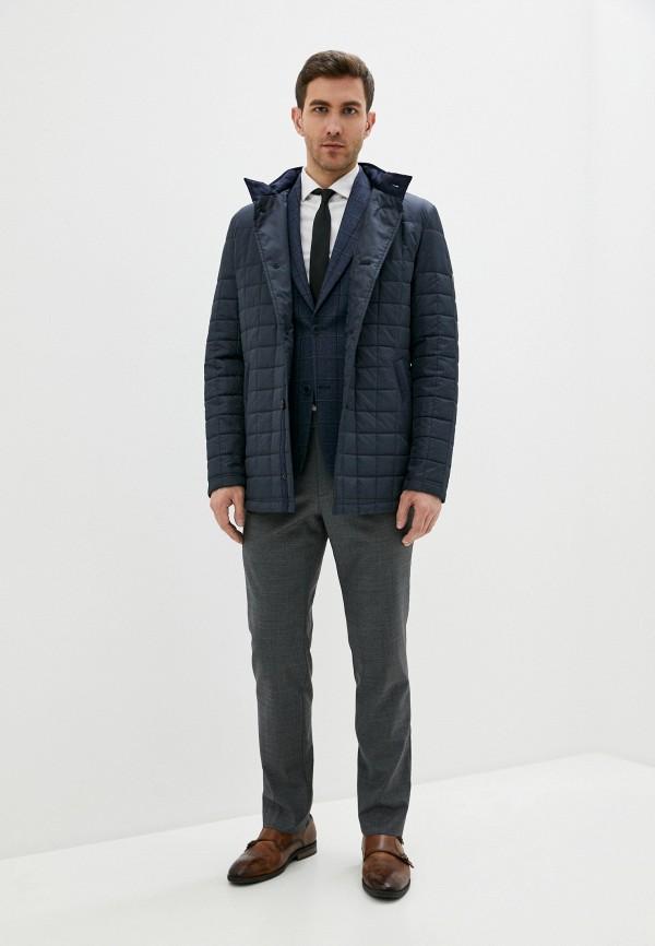 Bazioni   синий Мужская синяя утепленная куртка Bazioni   Clouty