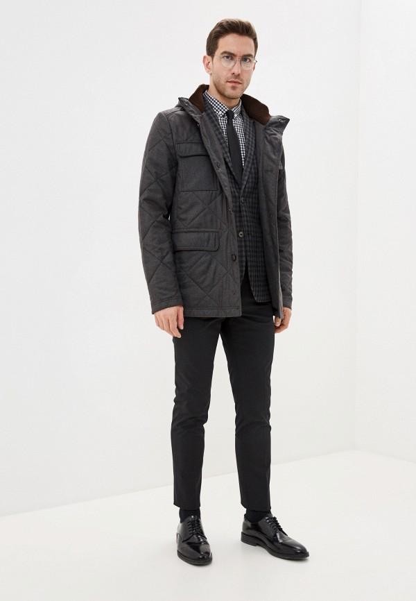 Bazioni | серый Мужская серая утепленная куртка Bazioni | Clouty