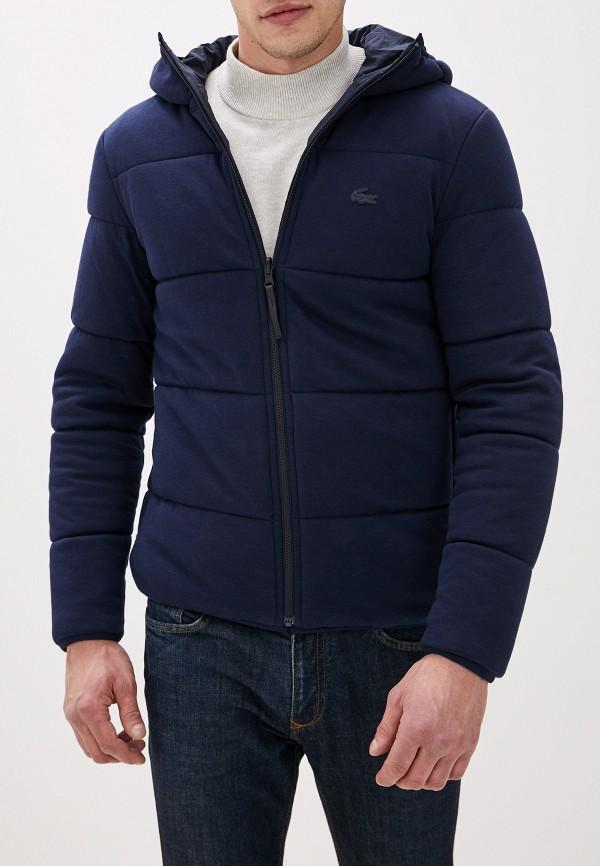Lacoste | синий Мужская синяя утепленная куртка Lacoste | Clouty