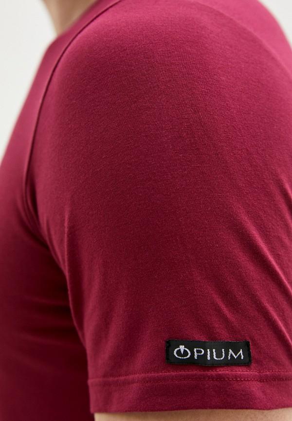 Opium | бордовый Футболка Opium | Clouty