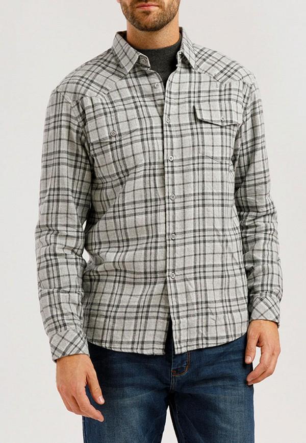 Finn Flare | серый Мужская серая рубашка Finn Flare | Clouty
