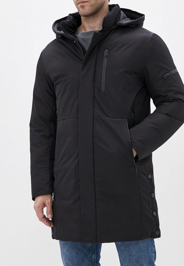Winterra | черный Мужская зимняя черная утепленная куртка Winterra | Clouty