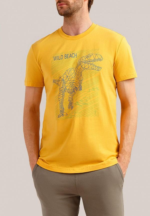 Finn Flare | желтый Мужская желтая футболка Finn Flare | Clouty