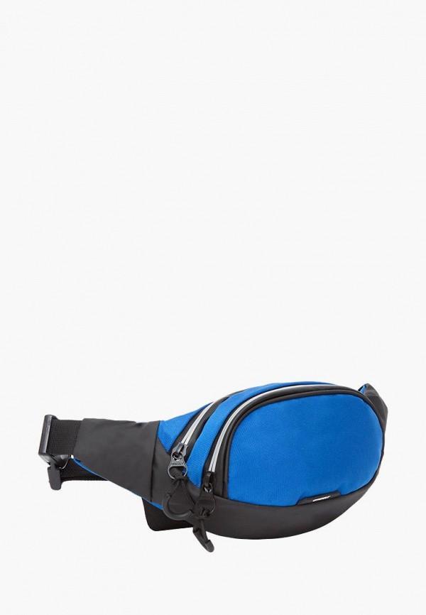 Grizzly   синий Мужская синяя поясная сумка Grizzly   Clouty
