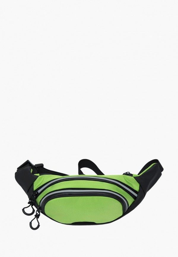 Grizzly | зеленый Мужская зеленая поясная сумка Grizzly | Clouty